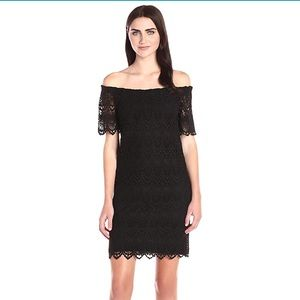 Velvet by Graham & Spencer: Black Lace Dress